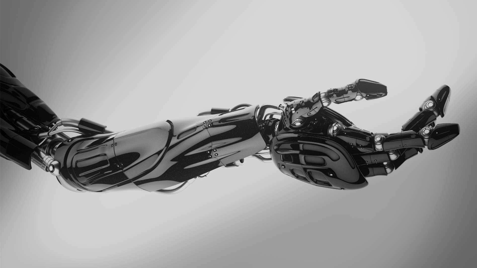Robot arm with hand